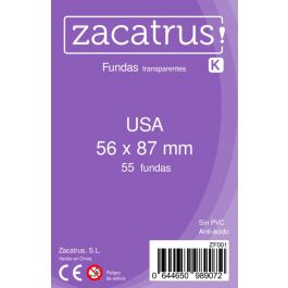 Fundas Zacatrus USA (56 mm X 87 mm) (55 uds)