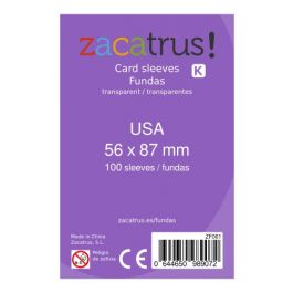 Fundas Zacatrus USA (56 mm X 87 mm) (100 uds)