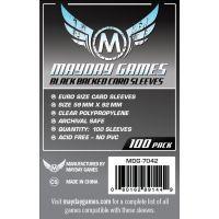 Fundas Mayday Eurogame Black (59 mm X 92 mm) (100 uds)