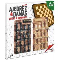 Tablero ajedrez - damas con accesorios