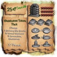 Alchemical Crystal Quest. Tokens y Miniaturas