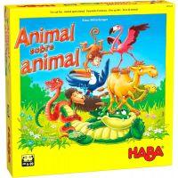 Animal sobre Animal es un juego de apilar animales de madera