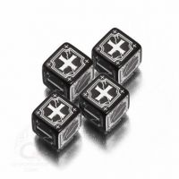 Black & white Antique Fudge Dice (4)