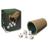 Cubilete forrado y dados póker