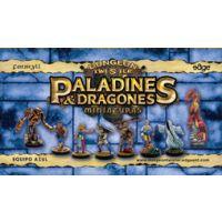 Dungeon Twister Paladines y Dragones Miniaturas: Equipo Azul