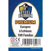 100 Fundas tamaño Europeo Premium (61x94mm)