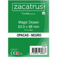 Fundas Zacatrus Magic Ocean (Standard: 63,5 mm x 88 mm) Negro (50 uds.)