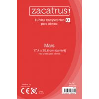 Fundas Zacatrus Mars (Comic: 174 mm X 266 mm) (100 uds)