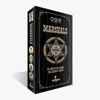 Marshals juego de mesa con cartas y meeples ambientado en el lejano oeste.