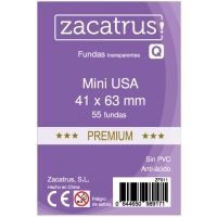 Fundas Zacatrus Mini USA Premium (41 mm X 63 mm) (55 uds)