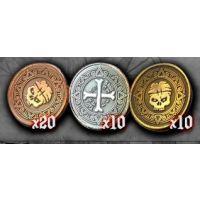 Skull Tales: Set 40 monedas plástico