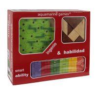 Pack Ingenio y Habilidad (Jenga, tangram y Laberinto)
