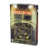 Tech dice Beige-black dice set (7)