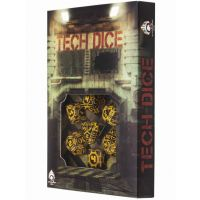 Tech dice Black-orange dice set (7)