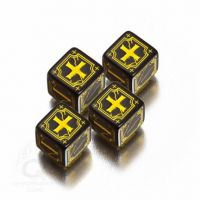 Black & Yellow Antique Fudge Dice (4)