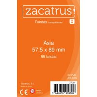 Fundas Zacatrus Asia (57,5 mm x 89 mm) (55 uds)