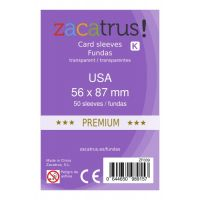Fundas Zacatrus USA Premium (56 mm X 87 mm) (50 uds)