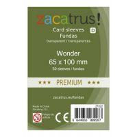 Fundas Zacatrus Wonder premium (65 mm X 100 mm) (50 uds)