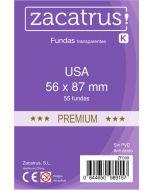 Fundas Zacatrus USA Premium (56 mm X 87 mm) (55 uds)